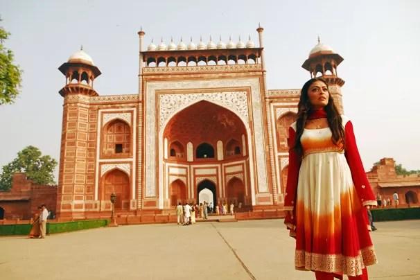 Parte do elenco viajou para a Índia, onde foram gravadas cenas em Jaipur e Agra (Foto: CEDOC Globo)