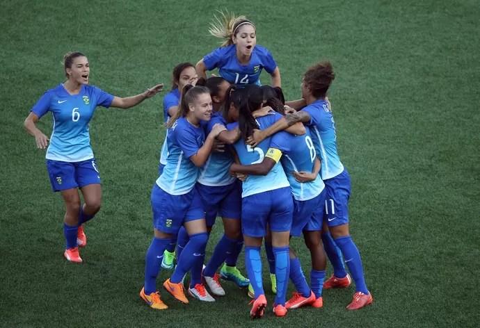 Brasil x Colômbia - Pan de Toronto - Futebol Feminino (Foto: Tom Szczerbowski/ USA TODAY Sports)
