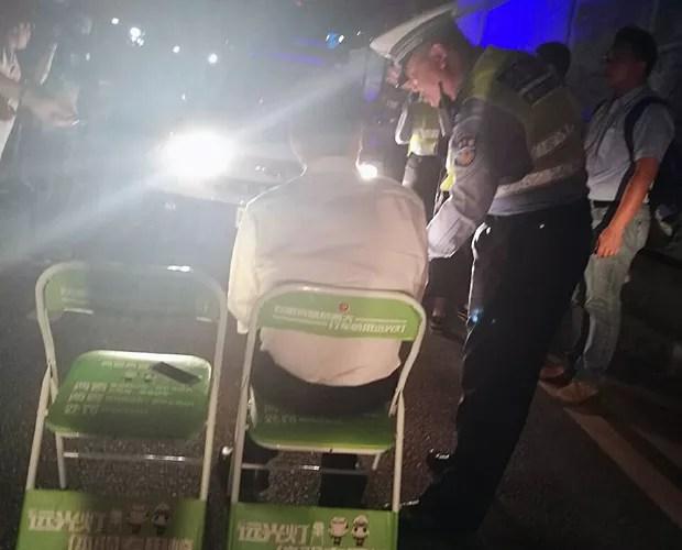 Imagens foram postadas nas redes sociais (Foto: Polícia de Trânsito de Shenzen/Weibo)