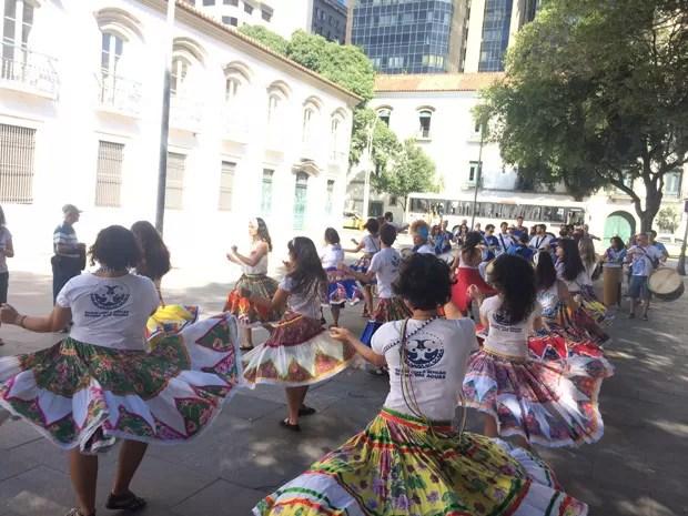 Rio tem evento com cara de carnaval contra redução da maioridade penal (Foto: Gabriel Barreira/G1)