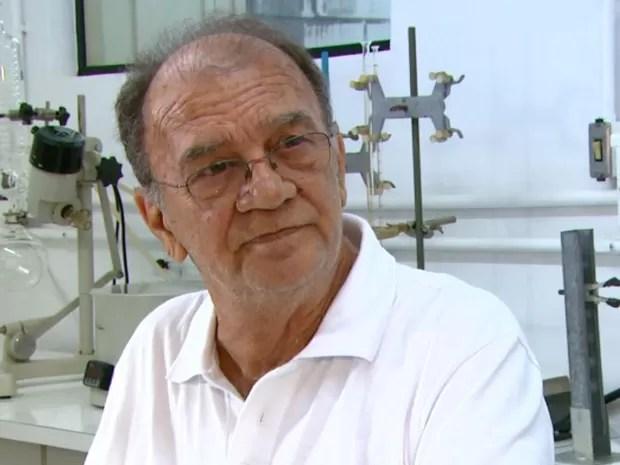 O químico Gilberto Chierice, pesquisador que desenvolveu a fosfoetanolamina sintética na USP de São Carlos (Foto: Wilson Aiello/ EPTV)