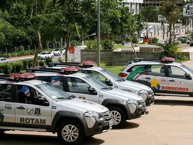Novas viaturas foram adquiridas no ano passado pelo governo do estado (Foto: Ednilson Aguiar/Secom-MT)