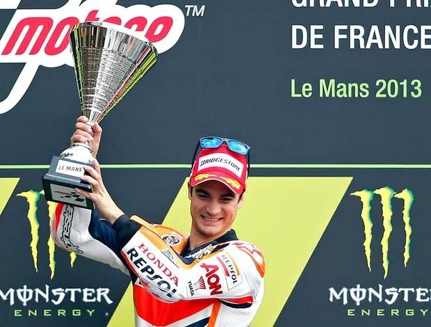 Dani Pedrosa pódio MotoGP França (Foto: Reuters)