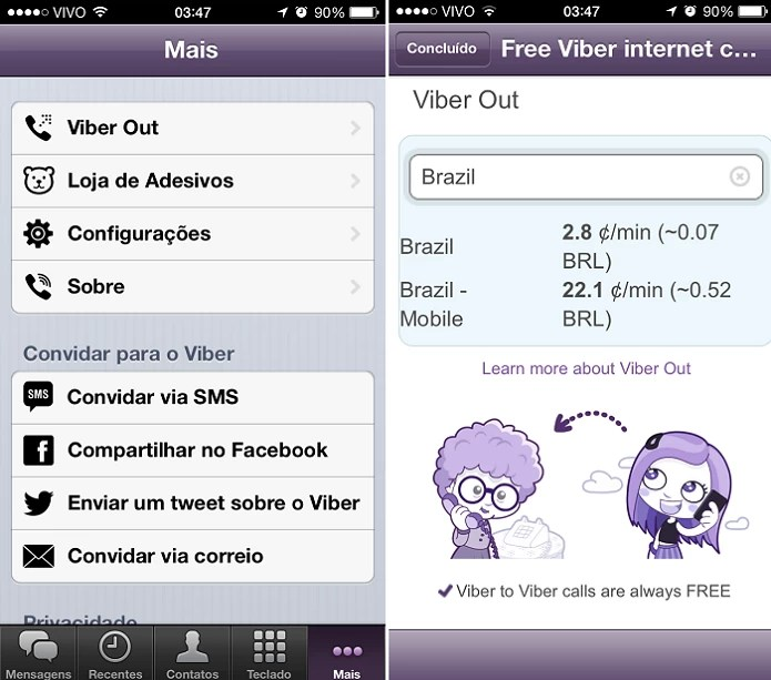 Viber também tem aplicativo pago (Foto: Thiago Barros/TechTudo)