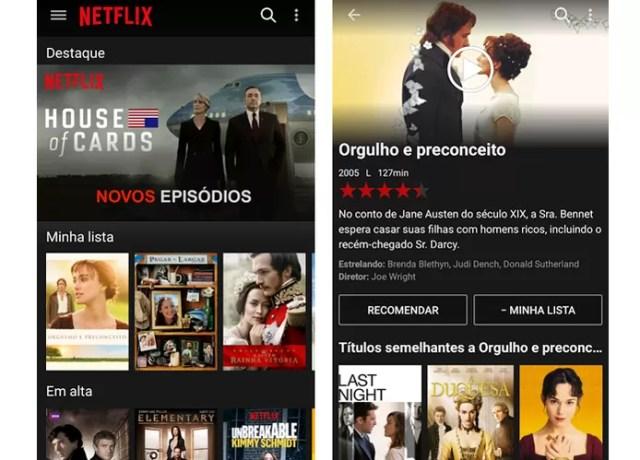 Netflix oferece opções de filmes e séries para usuários (Foto: Reprodução/Barbara Mannara)