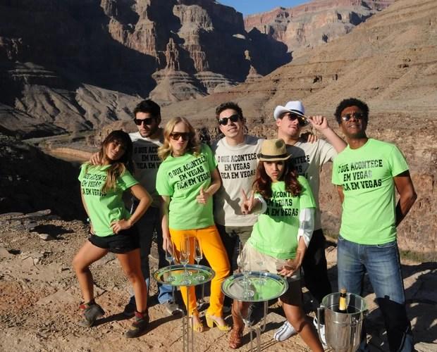 Angélica e seus convidados em Las Vegas (Foto: Divulgação/Deborah Montenegro)