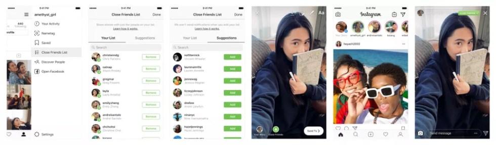 Instagram lança recurso de publicação de stories para grupo reduzido de amigos — Foto: Reprodução/Instagram