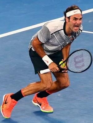 Roger Federer, final Aberto da Austrália (Foto: Reuters)