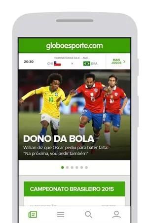 Baixe o app GloboEsporte.com e tenha notificações das principais notícias