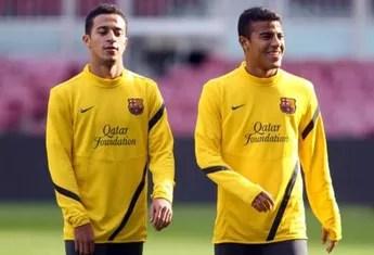 Thiago Rafinha Alcântara treino Barcelona (Foto: Site Oficial / FC Barcelona)