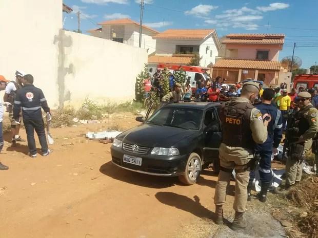 Cinco são mortos em atentado em Barreiras, no oeste da Bahia (Foto: Jadiel Luiz / Blog Sigivilares)