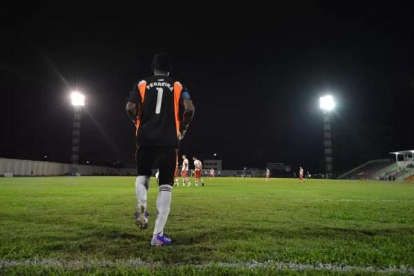 Ferreira, goleiro do Guajará (Foto: Emanuele Madeira)