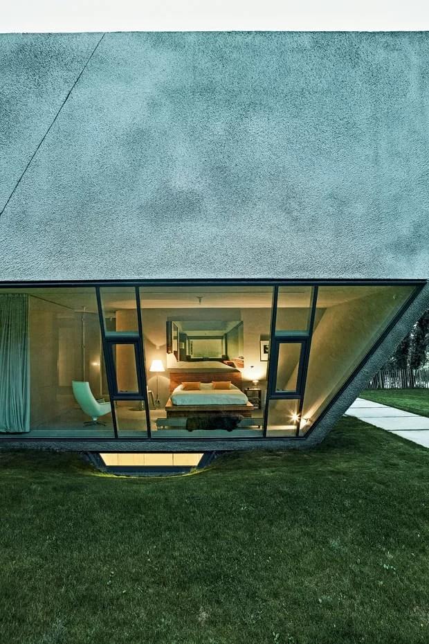 Casa de campo de concreto (Foto: Mark Seelen)