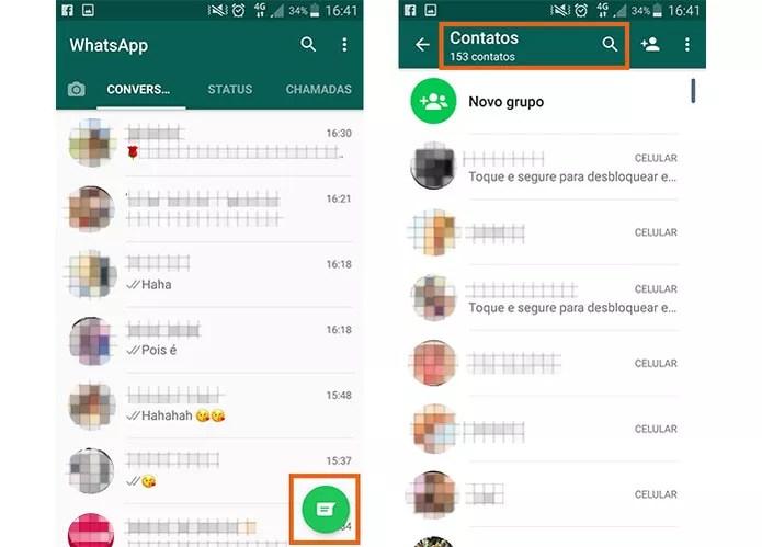 Encontre seus contatos no WhatsApp pelo Android (Foto: Reprodução/Barbara Mannara)