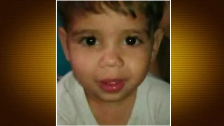 Menino Luan foi encontrado em túnel do Metrô — Foto: Reprodução/TV Globo