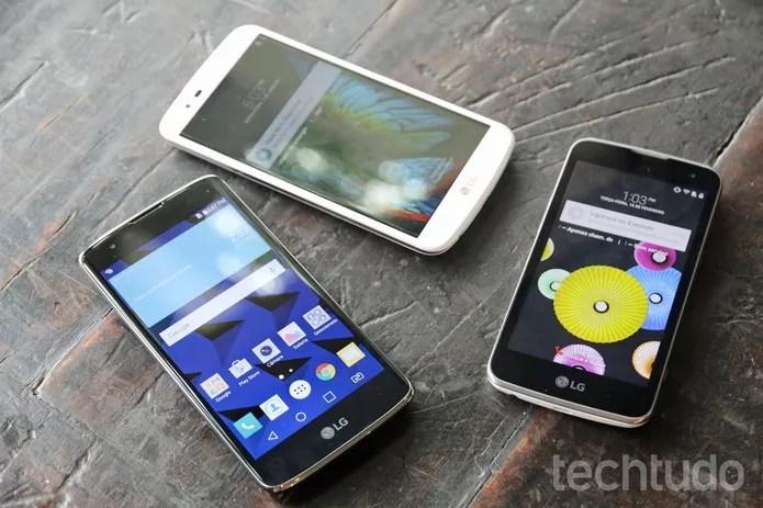 LG K4 é o smartphone menor e mais barato da linha (Foto: Fabricio Vitorino/TechTudo)