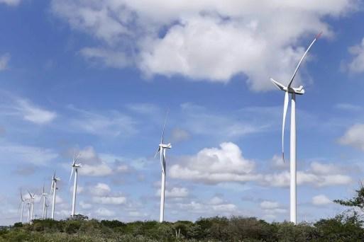 Compra de equipamentos para geração de energia eólica causou alta nas importações entre janeiro e fevereiro. — Foto: Moraes Neto/Sebre/Divulgação
