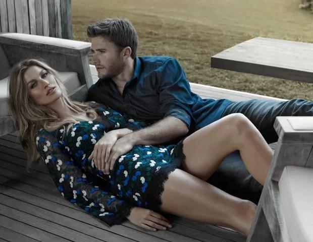 Gisele Bündchen e Scott Eastwood em nova campanha da Colcci (Foto: Divulgação)