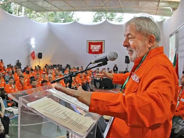 Lula em discurso durante a FUP em Guararema (Foto: Ricardo Stuckert/ Instituto Lula)