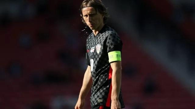 Modric teve muito desgaste no jogo desta sexta-feira entre Croácia e República Tcheca