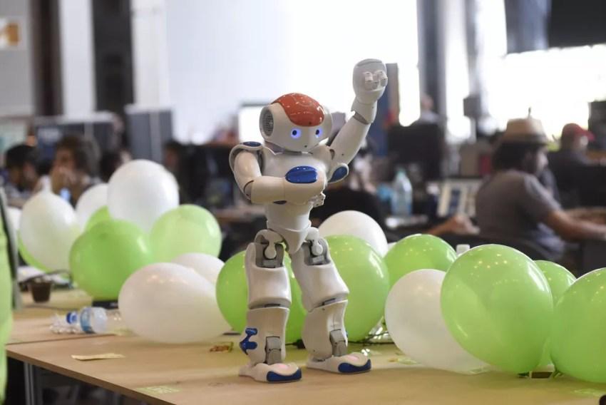 Robô apresentado na Campus Party 2017, em Brasília — Foto: CP/Divulgação