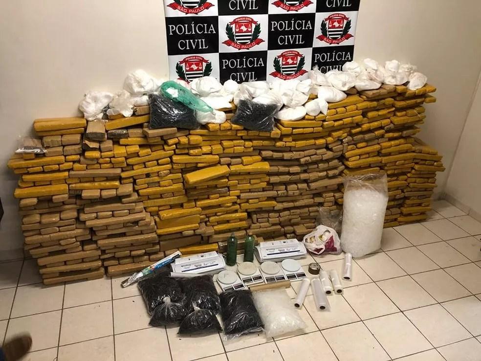 Droga estava armazenada em um sítio no bairro da Germana (Foto: Polícia Civil/Divulgação)