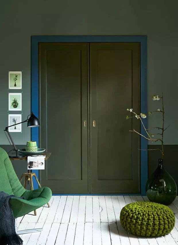 Hall de entrada com parede bicolor 6 estilos para se