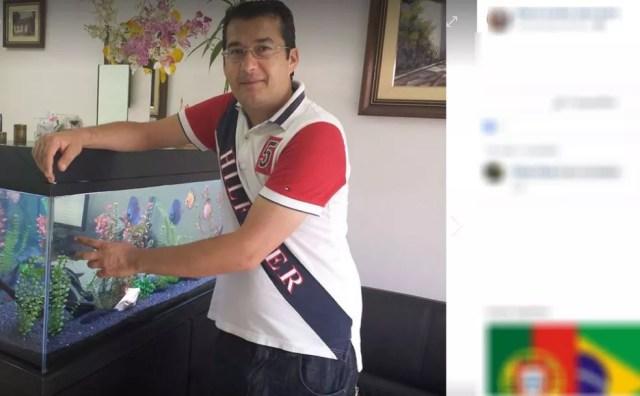 Segundo testemunha, Marco Aurélio Sana (foto) morava perto do local onde o corpo foi achado (Foto: Facebook/Reprodução)