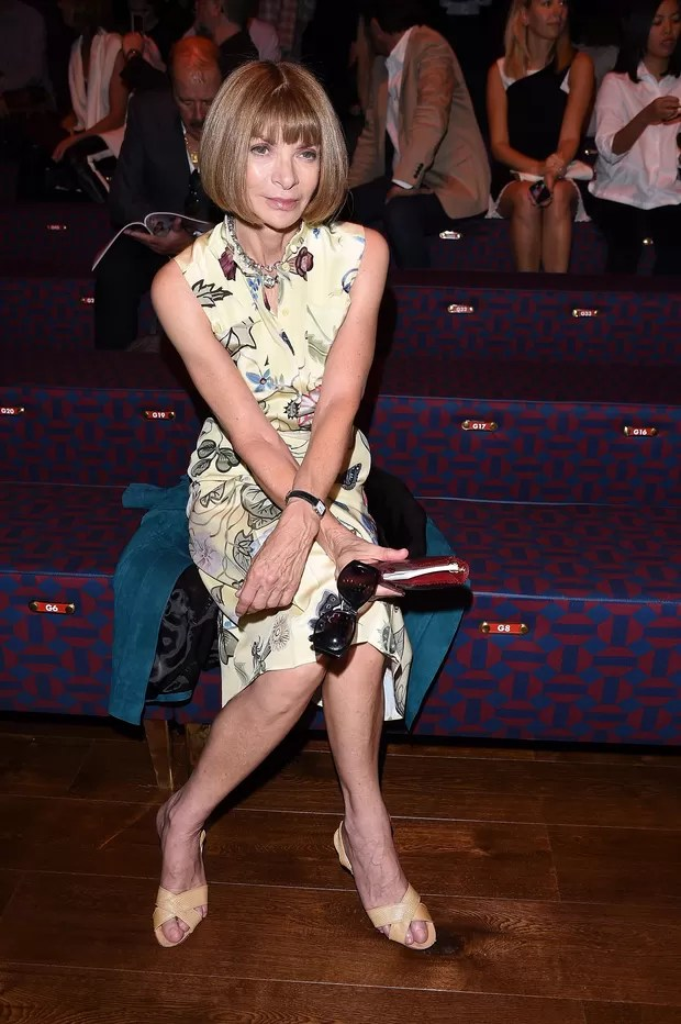 Anna Wintour no desfile da Gucci (Foto: Getty Images)