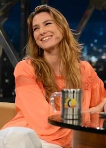 Nuno Mindelis e Lavínia Vlasak (TV Globo/Programa do Jô)