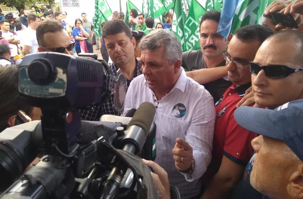 Alberto Fraga foi anunciado pelo partido Democratas como candidato ao governo do DF (Foto: Beatriz Pataro/TV Globo)