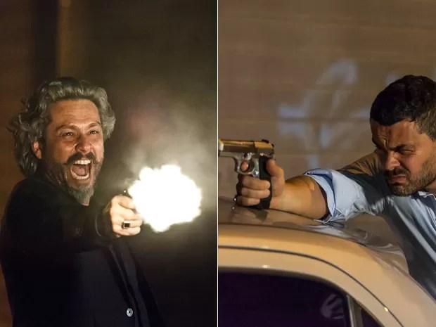 Zé e Maurílio travam duelo na rua (Foto: Artur Meninea/Gshow)