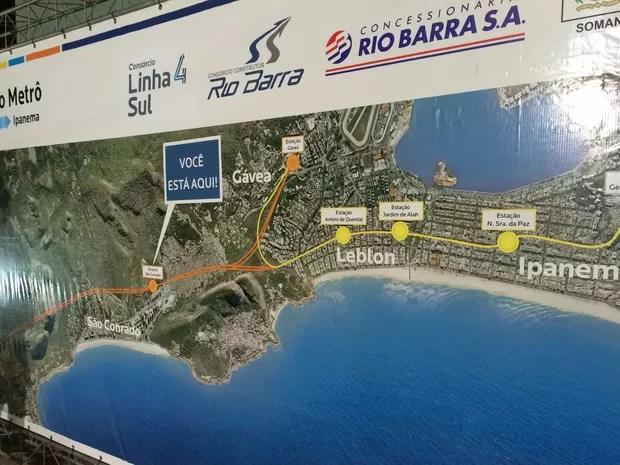 Linha 4 ficará pronta no início de julho de 2016 (Foto: Fernanda Rouvenat / G1)