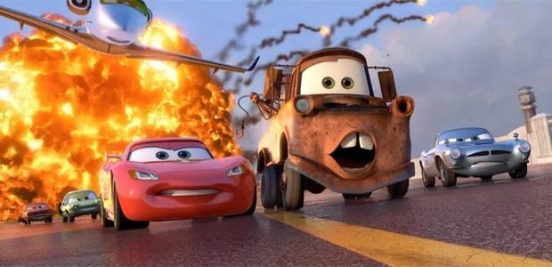 Primeira imagem oficial da animação 'Cars 2', de John Lasseter e Brad Lewis. Material foi divulgado pelo site HeyYouGuys.co.uk. Previsão de estreia do longa é para junho de 2011. (Foto: Divulgação)