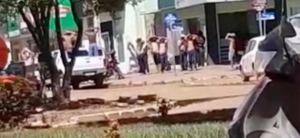 Assalto no estilo Novo Cangaço em Nova Bandeirantes (MT) — Foto: Divulgação