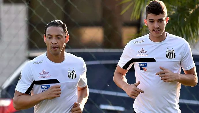 Ricardo Oliveira Gustavo Henrique Santos (Foto: Ivan Storti/Santos FC)