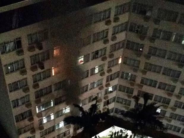 Primeiro andar do hotelfoi interditado (Foto: Polícia Militar/Divulgação)
