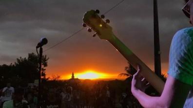 Pôr do sol com show na Casa da Pólvora, em João Pessoa (Foto: Funjope/Divulgação)