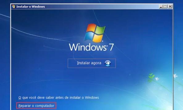 Iniciando a reparação do Windows (Foto: Reprodução/Edivaldo Brito)