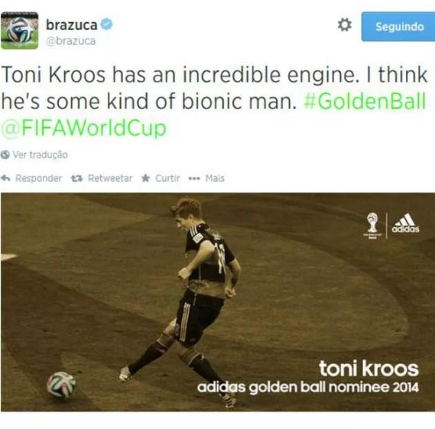 Toni Kroos, da Alemanha, é mais um dos indicados a melhor da Copa do Mundo