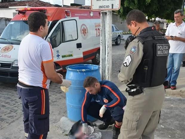 Criança já estava morta quando recebeu atendimento do Samu, em João Pessoa (Foto: Walter Paparazzo/G1)