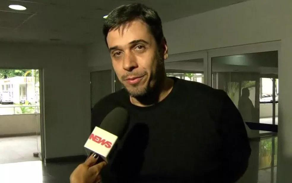 Euriquinho disse que foi chamado como testemunha na delegacia (Foto: Reprodução / GloboNews)