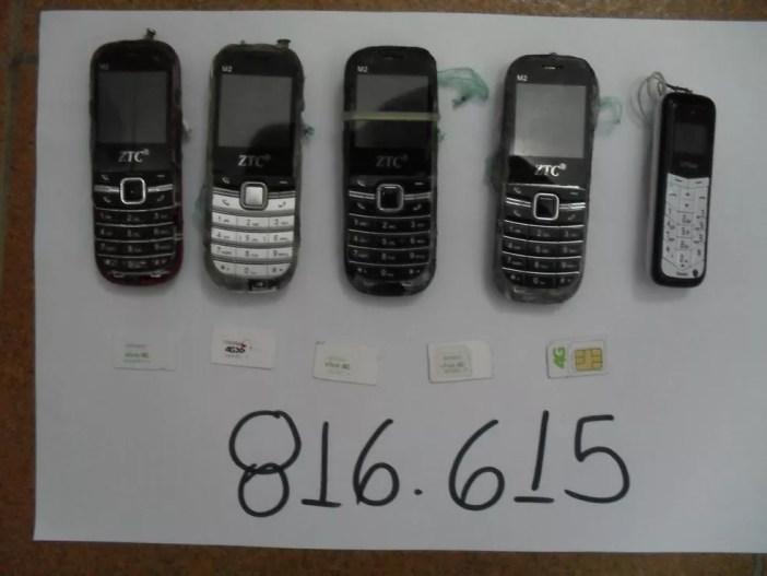 Presos escondiam celulares dentro do corpo, em Presidente Bernardes (Foto: SAP/Cedida)