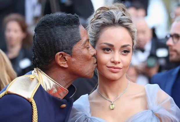 Jermaine Jackson e namorada (Foto: Getty Images)