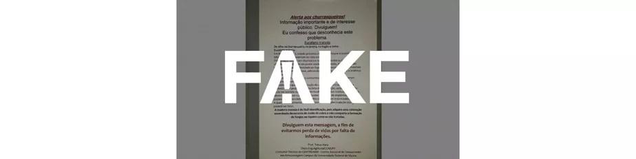 É #FAKE mensagem que fala em mortes por envenenamento após churrasco com madeira tratada
