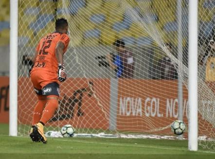 Contra o Fluminense, Sidão sofreu um gol de pênalti (Foto: André Durão/GloboEsporte.com)