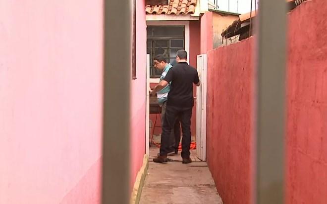 Corpo de Valíssia de Jesus foi encontrado em tambor no quintal da casa de Mirian em Pitangueiras, SP — Foto: Ronaldo Gomes/EPTV