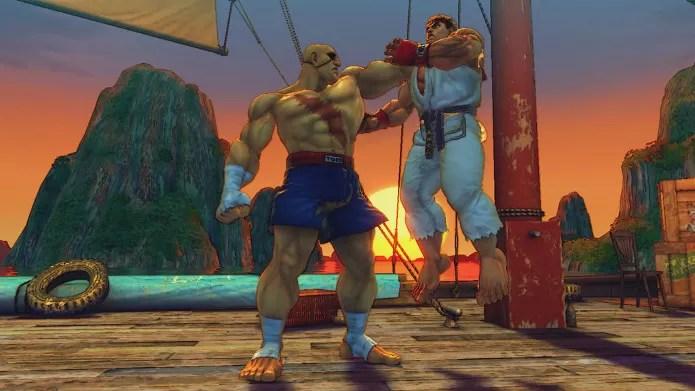 A cicatriz de Sagat foi criada por um golpe de Ryu (Foto: Reprodução / gamespot.com)