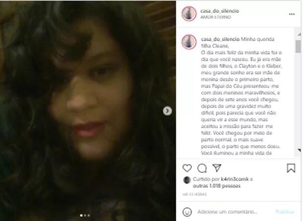 Publicação da mãe de Criolo (Foto: Reprodução/Instagram)