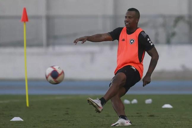 Nessa temporada, defensor perdeu espaço e sofreu com lesões — Foto: Vitor Silva/Botafogo